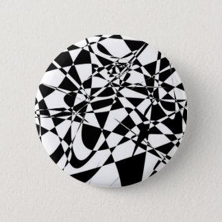ABSTRACTE zwart-witte knoop Ronde Button 5,7 Cm