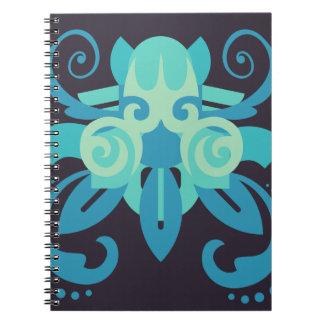 Abstractie Twee Poseidon Notitieboek