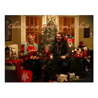 Absurd Vrolijke Kerstmis Briefkaart