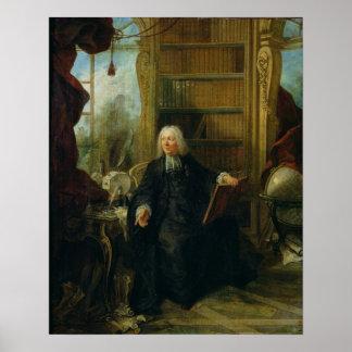 Abt Nollet in zijn studie, in chateau Poster