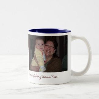 AbuelitaAndMeDucky, de Mamma's Rosa van Besos Tweekleurige Koffiemok