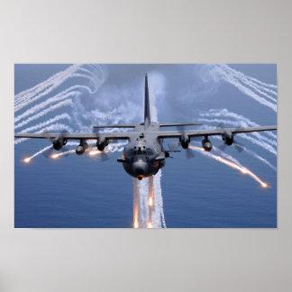 Ac-130 Gunship van het spook Poster