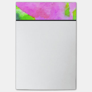 Achtergrond van de Waterverf van de paarse Bloem Post-it® Notes