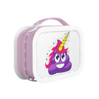 Achterschip van de Eenhoorn van Emoji het Paarse Lunchbox