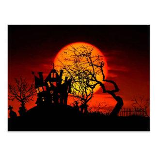 ACHTERVOLGDE NACHT, SPOOKHUIS! (Halloween) ~ Briefkaart