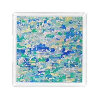 Acryl Dienblad, de Blauw van het Mes van het Palet Acryl Dienblad