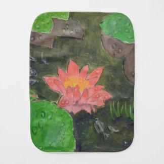 Acryl op canvas, roze waterleliebloem monddoekje