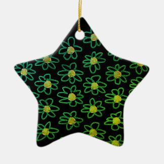 Acryl Ornament: zwarte groen Keramisch Ster Ornament
