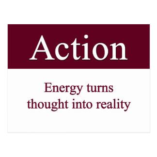 Actie - de draaien van de Energie in werkelijkheid Briefkaart