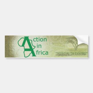 Actie in de Sticker van de Bumper van Afrika Bumpersticker