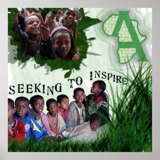 Actie in het Kinder Poster van Afrika