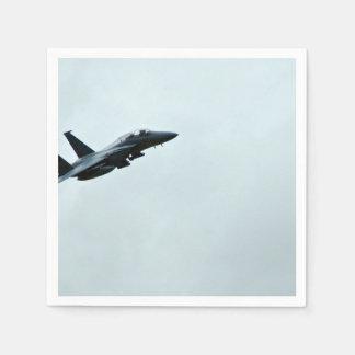 Actie Themed, een Vliegtuig Turing van de Vechter Papieren Servet