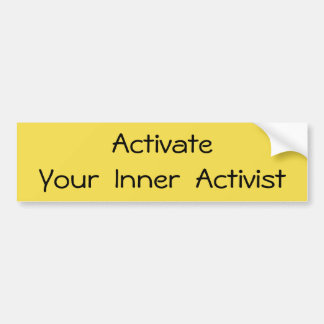 Activeer - T-shirt Bumpersticker