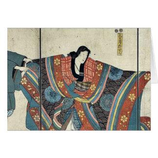Actoren door Utagawa, Kuniyoshi Kaart