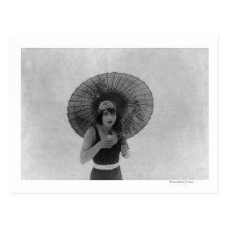 Actrice Betty Compson die Roomijs eten Briefkaart