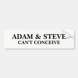 Adam en Steve Bumpersticker