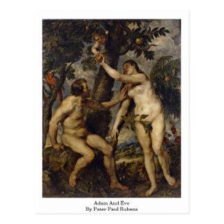Adam en Vooravond door Peter Paul Rubens Briefkaart