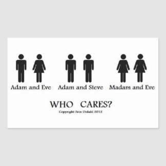 Adam en Vooravond en… stickers! Rechthoekige Sticker