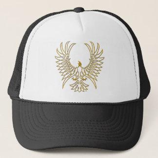 adelaar die, goud toenemen trucker pet