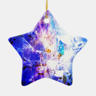 Adem opnieuw de Dromen van de Nacht Yule Keramisch Ster Ornament