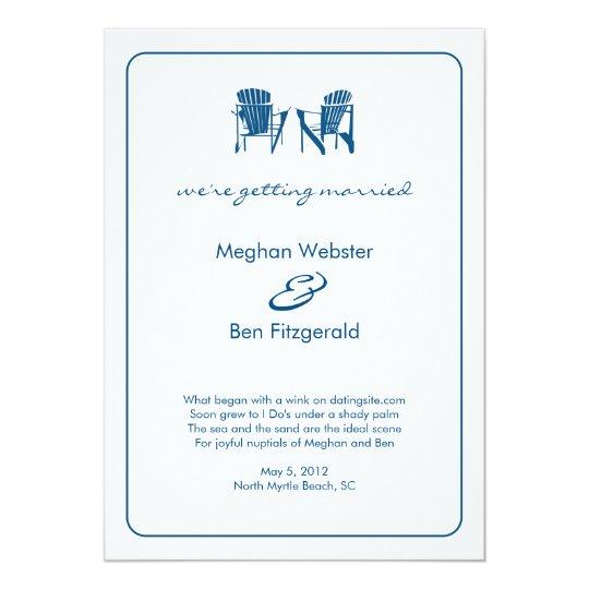 Adirondack Chairs Wedding Announcement Kaart