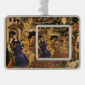 Adorazione Dei Magi Verzilverd Omlijst Ornament