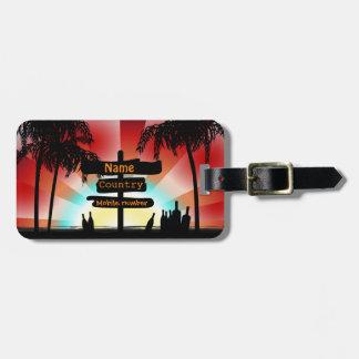Adres label - Summer Style Beach - Palmbomen Bagagelabel
