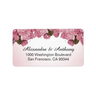 Adres van de Terugkeer van het Huwelijk van de Addressticker