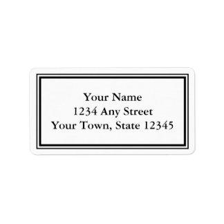 Adresetiket van de Envelop van de douane het Etiket
