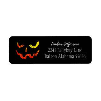 Adresetiket van het Gezicht van Halloween het Etiket