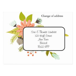 adreswijzigings bloemenbriefkaart briefkaart