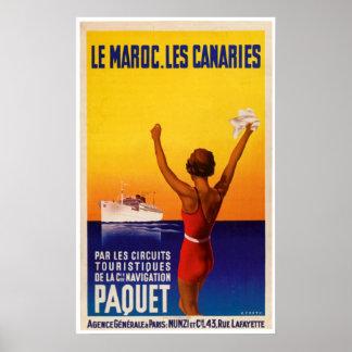 Advertentie van het Schip van le Maroc Les de Poster