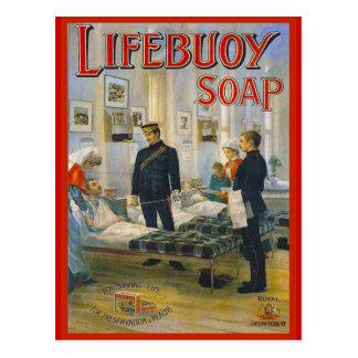 Adverterene de Wijnoogst van de replica, zeep Briefkaart