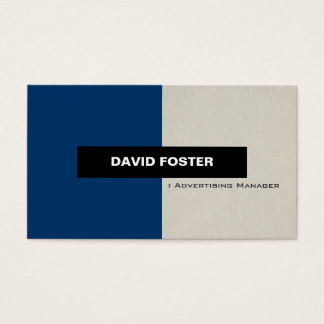 Adverterene Manager - Eenvoudige Elegante Modieus Visitekaartjes