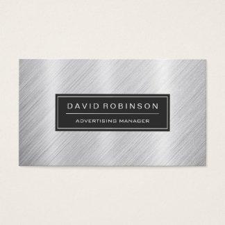 Adverterene Manager - het Moderne Geborstelde Visitekaartjes
