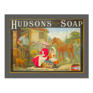 Adverterene wijnoogst, de zeep van Hudson Briefkaart