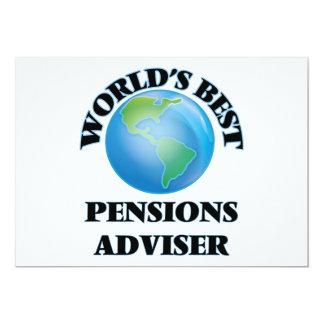 Adviseur van de Pensioenen van de wereld de Beste 12,7x17,8 Uitnodiging Kaart