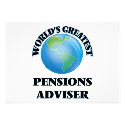 Adviseur van de Pensioenen van de wereld de Custom Uitnodigingen