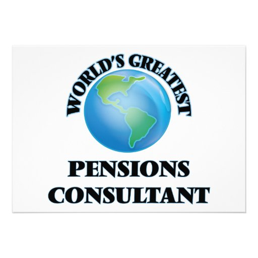 Adviseur van de Pensioenen van de wereld de Custom Uitnodging