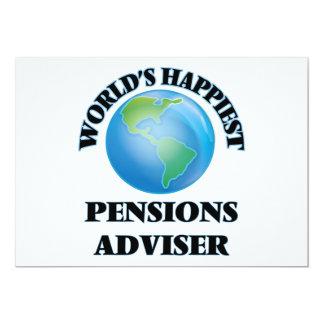 Adviseur van de Pensioenen van de wereld de 12,7x17,8 Uitnodiging Kaart