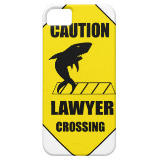 Advocaat die met Haai kruisen Barely There iPhone 5 Hoesje