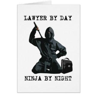 Advocaat tegen Dag, 's nachts Ninja Briefkaarten 0