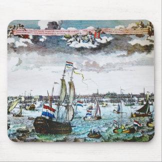 Afbeelding Mousepad van Amsterdam van het zeil het Muismat