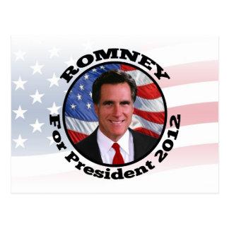 Afbeelding van Romney, Stem voor President 2012 Briefkaart