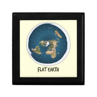 Afbeelding van Vlakke Aarde Vierkant Opbergdoosje Small