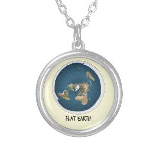 Afbeelding van Vlakke Aarde Zilver Vergulden Ketting