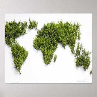 afbeelding van wereldkaart poster