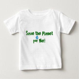 afbeeldingen, sparen de Planeet voor me! Baby T Shirts