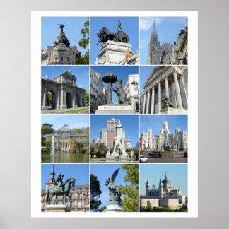Afbeeldingen van het collectie van Madrid Poster
