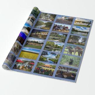 Afbeeldingen van Ocala met blauwe achtergrond Inpakpapier